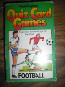 1979 Waddingtons Quiz Jeux De Cartes-football 1-6 Joueurs 48 Illustré Quiz Carte-afficher Le Titre D'origine Pratique Pour Cuire