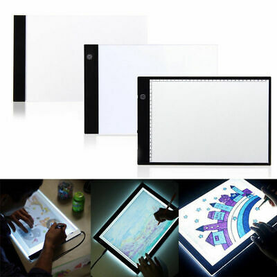 LED Tracing Light Box Board Art Tattoo A4 Drawing Pad Table Stencil Display WYS