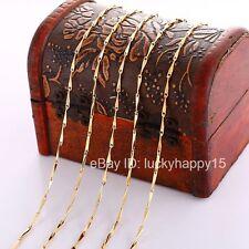"Bulk Wholesale Lots 5pc 1.5mm Gold Filled Fashion Women Link Chains Necklace 18"""
