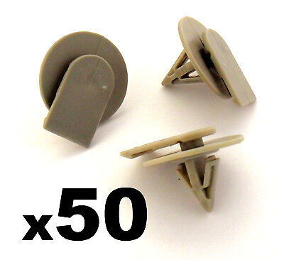 50x BMW Mini Protective Plastic Side Skirt / Sill Cover Trim Fastener Clips