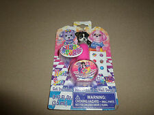 Lisa Frank Pink Glitter Nail Polish & 6 Nail Decals~For Ages 3+, NEW IN PACKAGE!