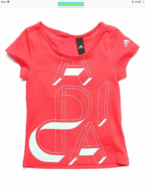 adidas Junior Girls AA Ling t,shirt [ AY5344 } For Ages 5 to 15 years.
