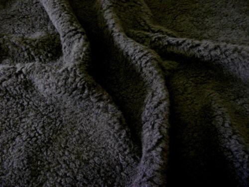 Abrazar suave lana de cordero Súper Suave Sherpa Marrón y Crema de 150 Cms De Ancho Oso Juguetes
