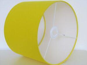 New handmade bright yellow plain cotton fabric drum lampshade image is loading new handmade bright yellow plain cotton fabric drum aloadofball Images