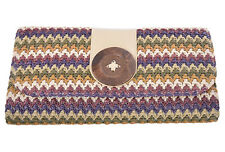 Edle Retro BUTTON Vintage Raffia Basttasche 40s CLUTCH BAG FDH3087 Rockabilly