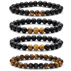 8mm-Natural-Tiger-Eye-Lava-Rock-Stone-Mens-Bracelets-Oil-Diffuser-Bracelets-Set