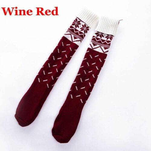 Women Warm Cable Knit Over Knee Long Boot Thigh-High Sock Leggings Xmas Gifts