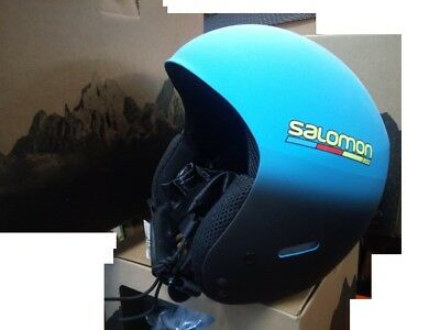 Helmet for Skiing Approved Fis Mens Competition x Race Slab BlueBK Model Adult | eBay
