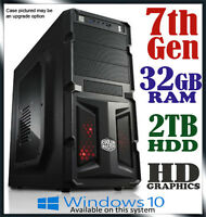 Intel Dual Core Gaming Computer 32gb Ram 2tb Office Desktop System Pc I3 I5 I7