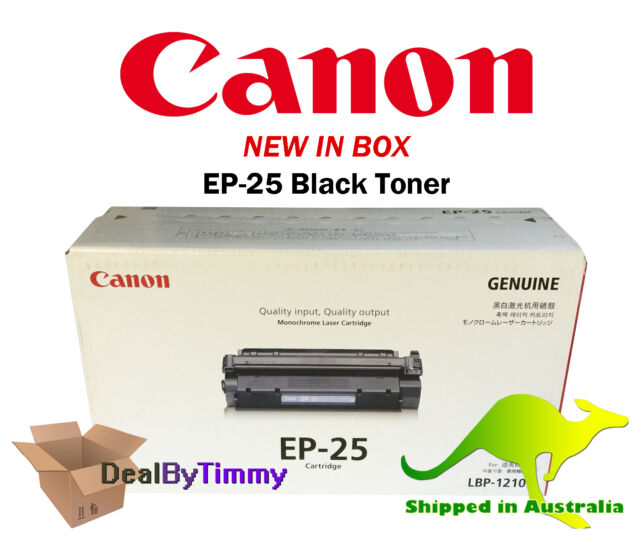 Genuine Canon EP-25 Black Toner for LBP1210 2500 Pages New in Box Free Shipping
