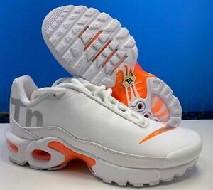 Details about Nike Air Max Plus TN SE Big Logo White Silver Orange AR0005 100 Size 4Y WMNS 5.5