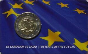 2 Euro Commémorative de Lettonie 2015 Brillant Universel (BU) - Drapeau Européen