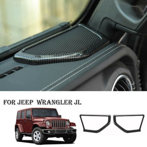For Jeep Wrangler 2018 JL Auto Front A Pillar Speaker Cover Protect Guard Trim