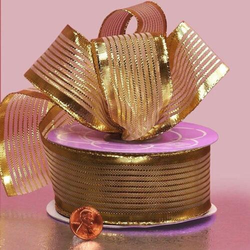 1 1//2 pulgadas de ancho Belfort Metálico Cintas Color Oro Precio Por 2 Metros