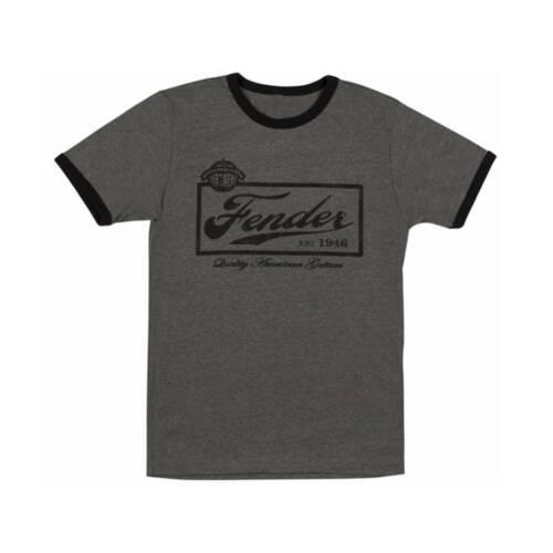 Fender Beer Label T-Shirt Grey S