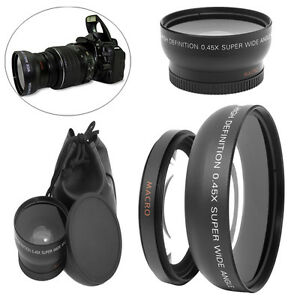 Kamera-49mm-0-45x-Weitwinkel-Makro-Objektiv-mit-2-Caps-fuer-Sony-A-nex3-nex5-nex-c3