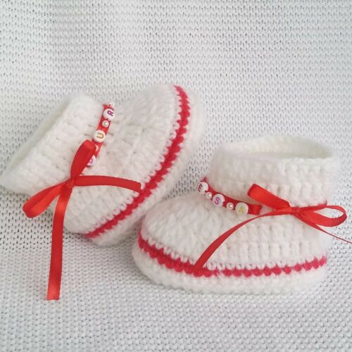 0-6 Monate Socken mit Namen Jungen Baby Mädchen warme Schuhe NEU!!!!