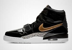 Nike Men's Air Jordan Legacy 312 BlackMetallic GoldWhite AV3922 007 (Size: 8)