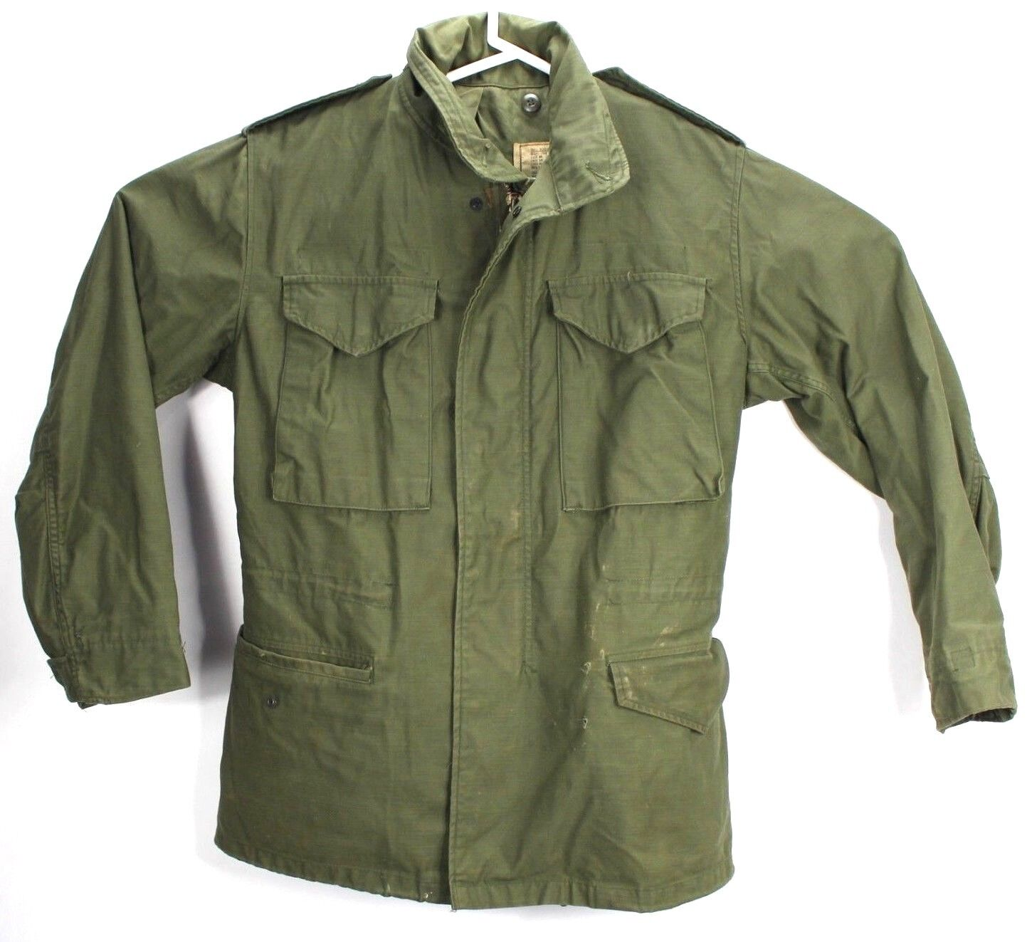 US Military Mens Small Regular Coat Cold Weather Field Long Army Green OG-107