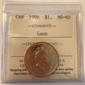 1996 Canada One Dollar Coin. UNC. Loonie