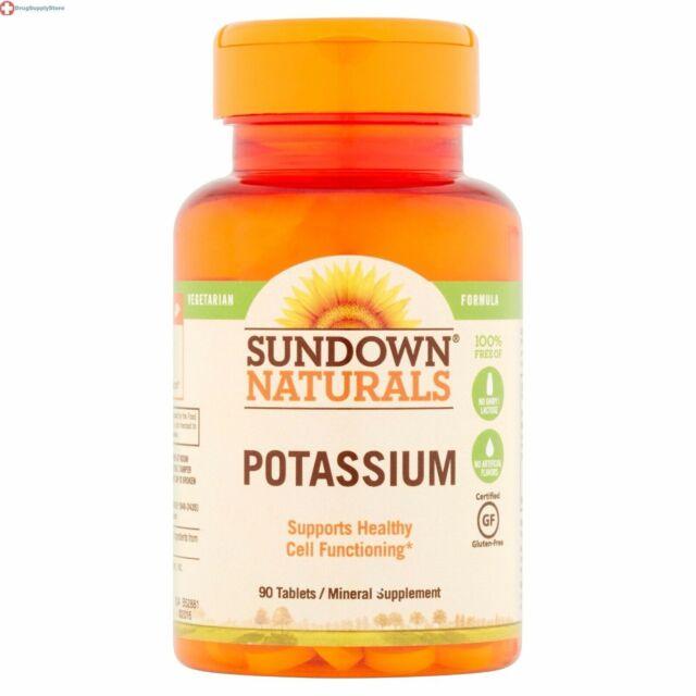Sundown Naturals Potassium Tablets 90ct 030768004057a278 For Sale Online Ebay