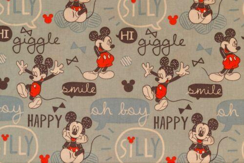 10 diseños magníficos Disney Mickey Mouse Artesanía Algodón Tela de la impresión