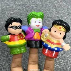 3x-Fisher-Price-Little-People-DC-comics-hero-Joker-Robin-Wonder-Woman-Figure-toy