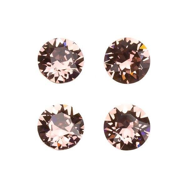 Swarovski 1088 Crystal Chatons Black Diamond Foil Back 8mm Pack of 4 E96//9
