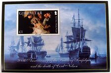 2005 GIBRALTAR SHIP STAMPS SS 200TH ANV. OF THE BATTLE OF TRAFALGAR