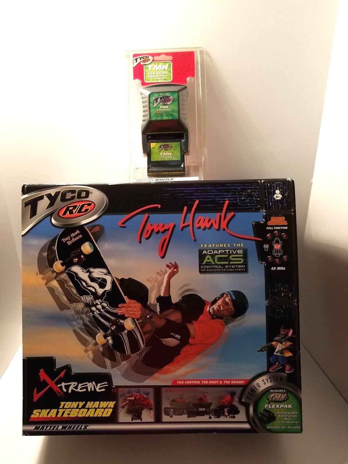 Mattel 2001 Tyco Tony Hawk Remote Controlled Skateboard With Flex Battery New