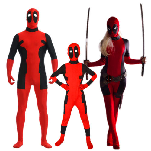 Deadpool - Lycra Muscle Outfit Comic X-Men Superhero Costume for Kid Adult Men Women
