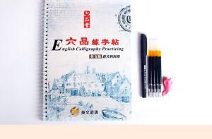 Caligrafia-y-Mano-Letras-Bloc-De-Notas-Cuaderno-de-ejercicios-de-practica-de-Principiante-amp