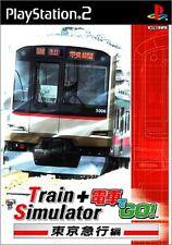 PS2 Train Simulator +Densha de Go! Tokyo Express Version Japan F/S