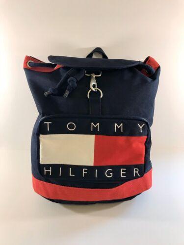 Vintage 90's Tommy Hilfiger Backpack Big Flag Spel