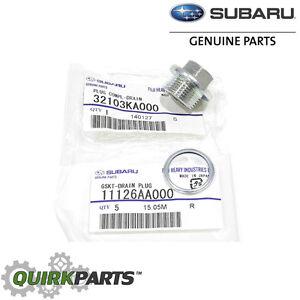Oil Pans Saab >> 1985-2017 Subaru Magnetic Oil Drain Plug & Gasket Impreza ...