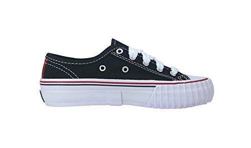 PF Flyers Center Lo Reiss KC1002BK Black Preschool Kids Shoes