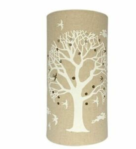 Stunning-Light-Glow-Fabric-Plug-in-Lamp-039-Tree-of-Life-039-FL016-New-amp-Boxed