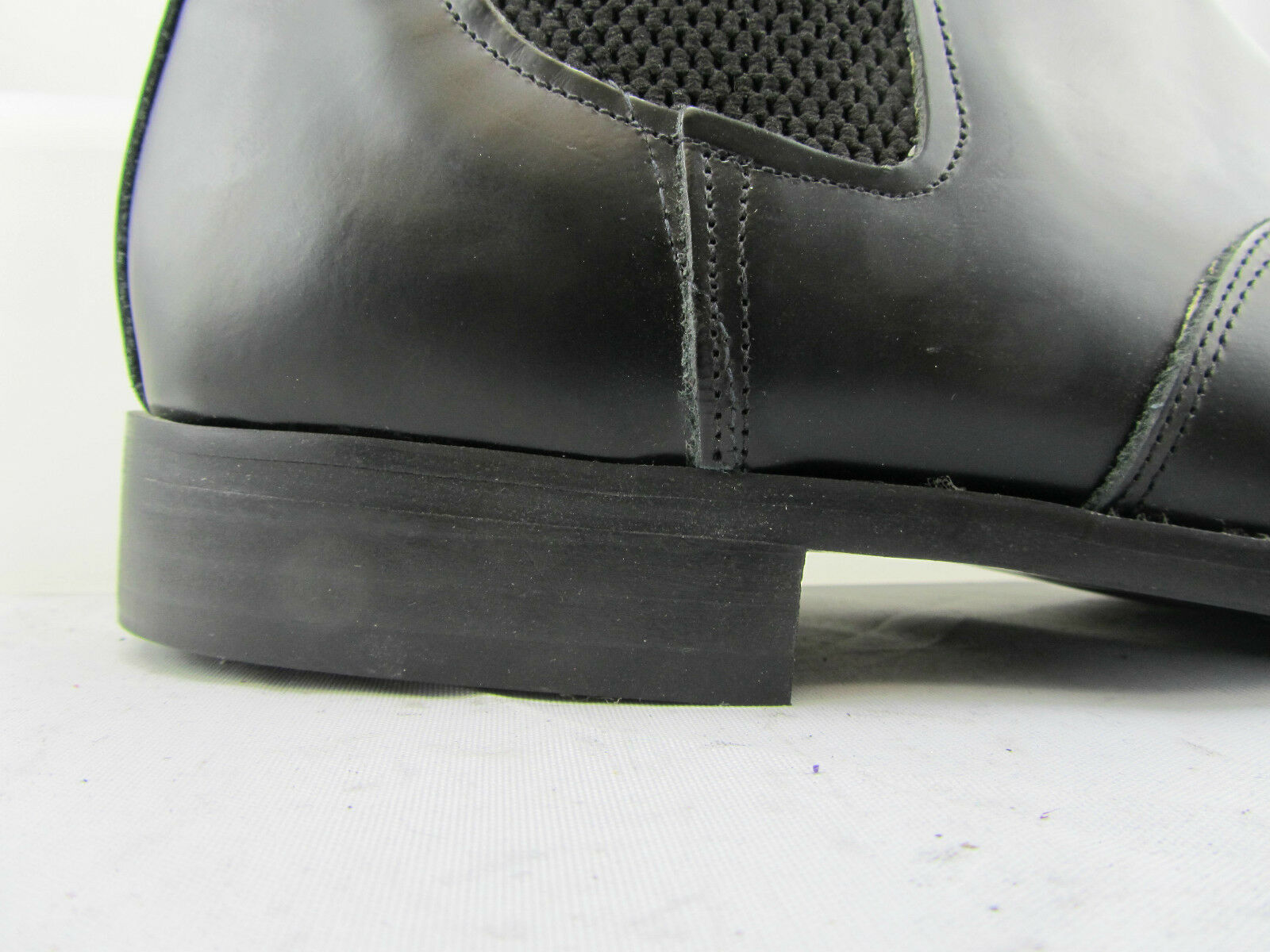 Retro Of London Mens Black Leather Winkle Picker Chelsea Boots Slip On Flat Heel