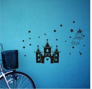 CASTLE-princess-stars-Wall-Decal-Vinyl-Stickers-Art-Decor-Home-KIDS-Mural-DIY