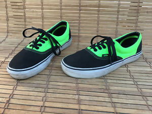 1f51de6193 Details about VANS OFF THE WALL Yellow   Black TB5B Canvas Skate Shoes Size  Men 7 Women 8.5