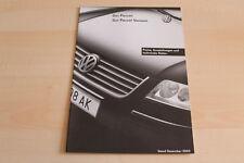 90838) VW Passat + Variant - Preise & Extras - Österreich - Prospekt 12/2003