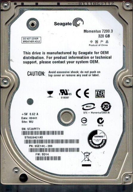 Seagate ST9320421AS F/W: SD14 P/N: 9GE144-286 WU 320GB