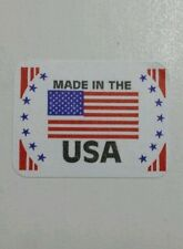 """Made in the USA - label 1 1/4"""" x 7/8"""" (25 labels) Hand made something in USA?"""