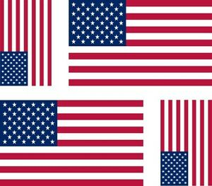 4-x-Aufkleber-Auto-Sticker-amerika-motorrad-usa-Fahne-Flagge-vereinigte-Staaten