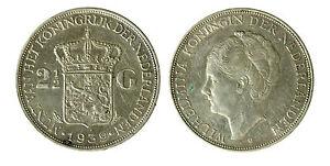 pcc1840-93-Netherlands-Wilhelmina-2-1-2-Gulden-1939-Silver