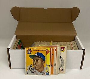 1954 Topps Baseball Complete Set (250) Hank Aaron Banks Kaline RC + Ted Williams
