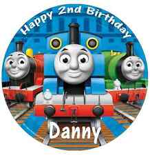 Thomas The Tank Engine Personalised Cake Topper Edible Wafer Paper 7.5""