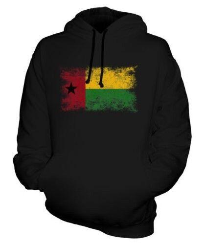 Guinea Bissau Distressed Flagge Unisex Kapuzenpulli Top Guine-Bissau Fußball
