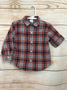 8debeeb26 Janie And Jack Baby Boy Button Up Long Sleeve Cuffed Shirt Size 18 ...