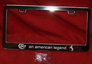 COLT Firearms Factory Stainless Steel License Plate Frame